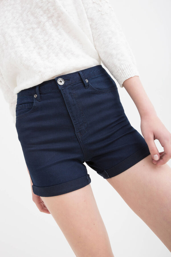 High-waist stretch denim shorts | OVS