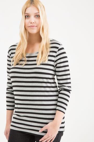 T-shirt viscosa stretch righe Curvy