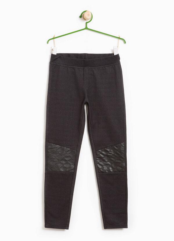 Leggings in cotone stretch matelassé | OVS