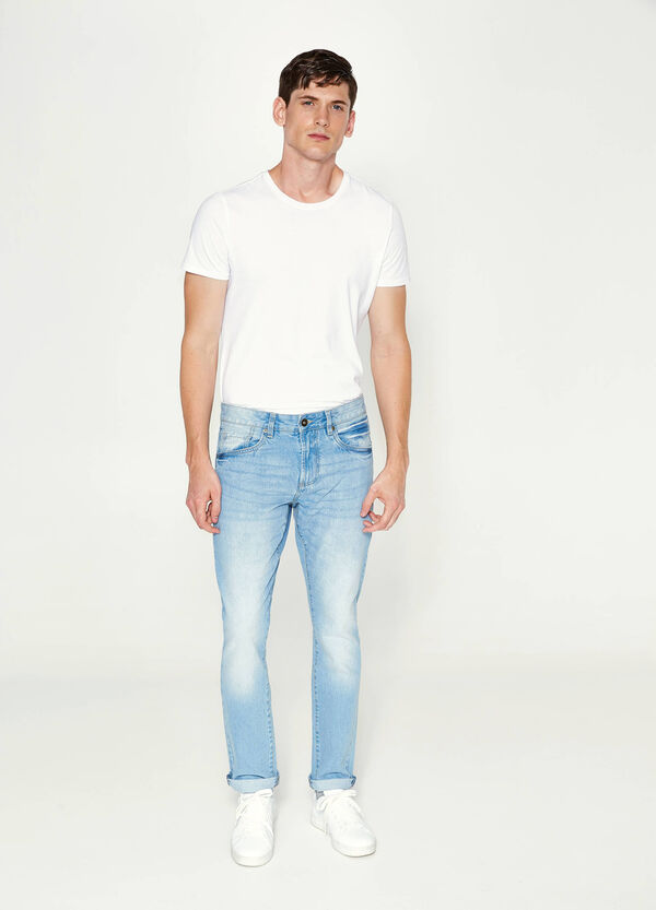 Worn-effect straight-fit jeans | OVS