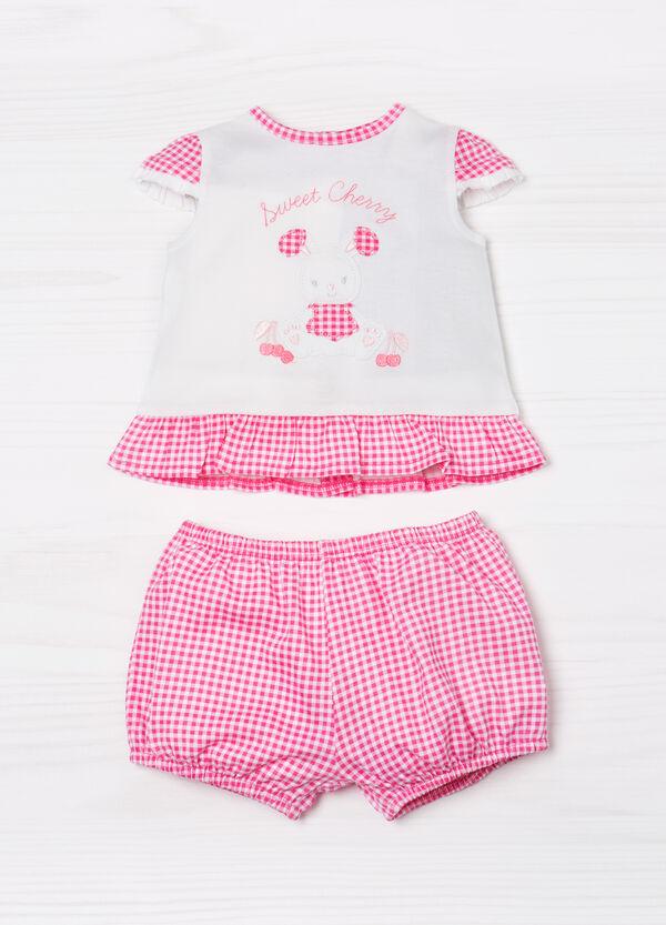 Completo t-shirt pantaloni quadri | OVS