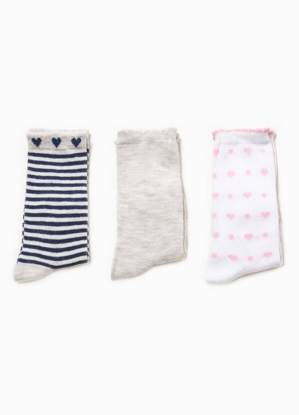 Three-pack long patterned socks | OVS
