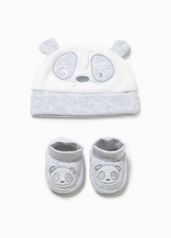 Completo cappello e scarpine panda | OVS