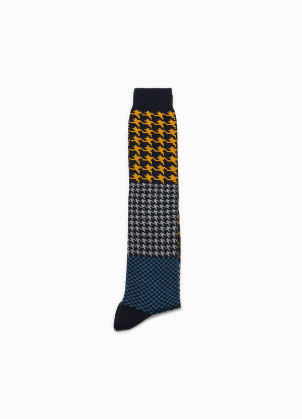 Long socks with hounds' tooth pattern | OVS
