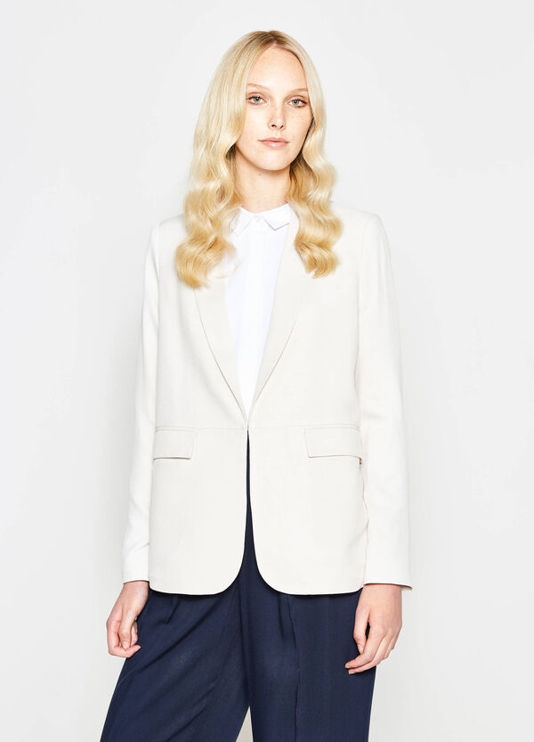 100% viscose blazer with lapels | OVS