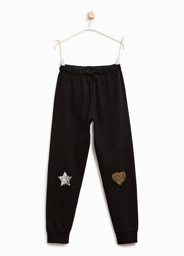 Pantaloni tuta con paillettes | OVS