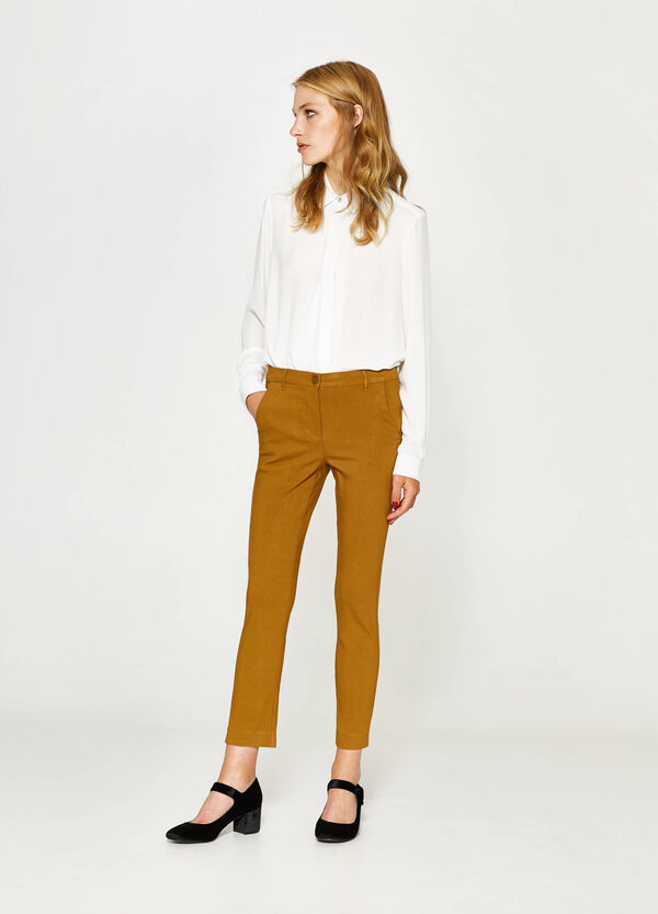 Stretch viscose trousers | OVS