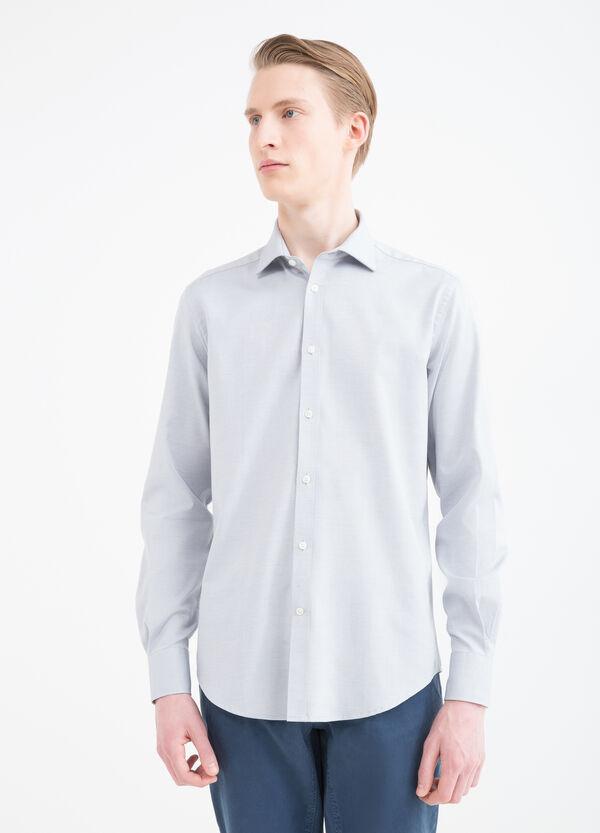 Slim-fit patterned cotton shirt   OVS