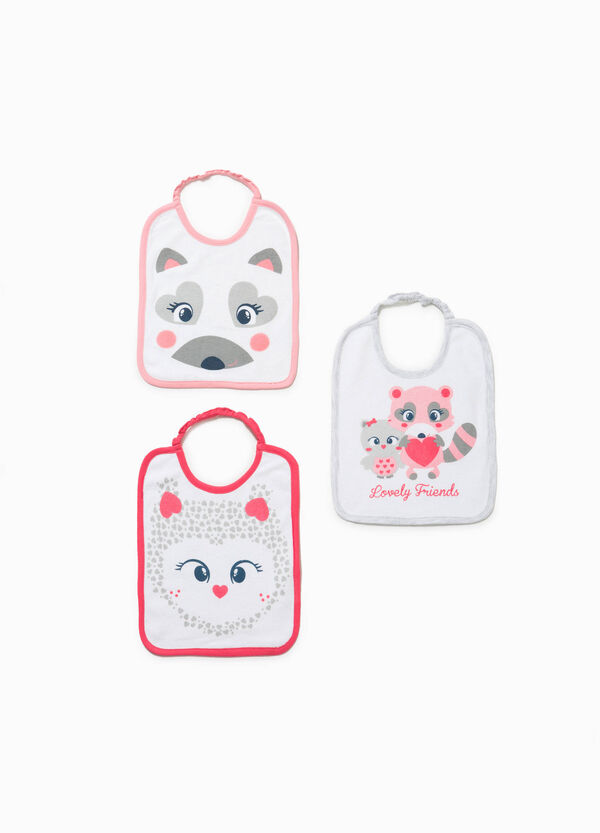 Three-pack cotton bibs with animal print | OVS