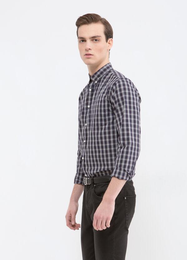 Camicia con taschino misto cotone   OVS
