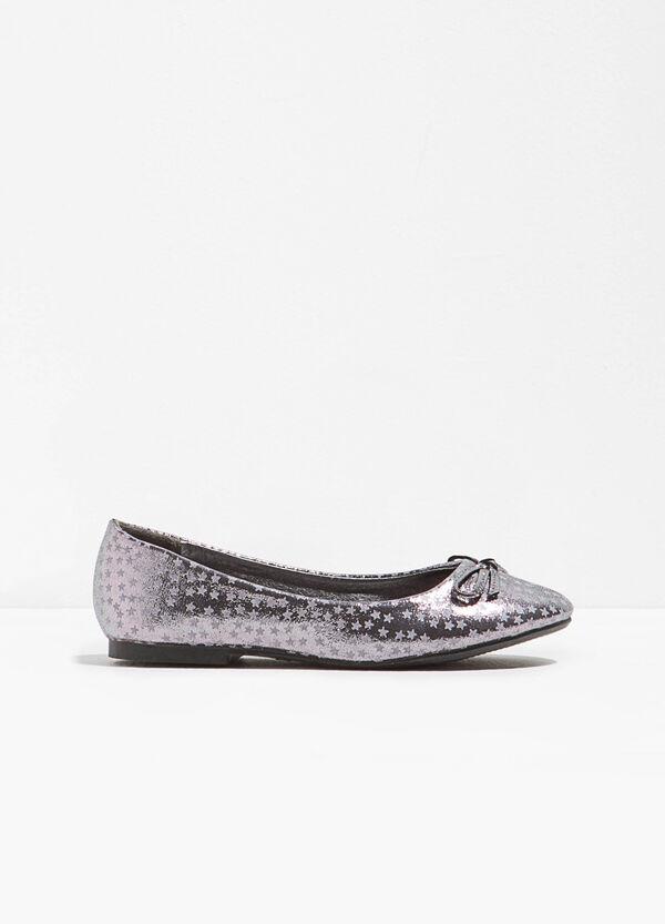 Ballerina flats in star fabric | OVS