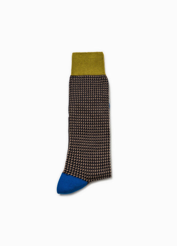 Rumford short socks with geometric pattern | OVS