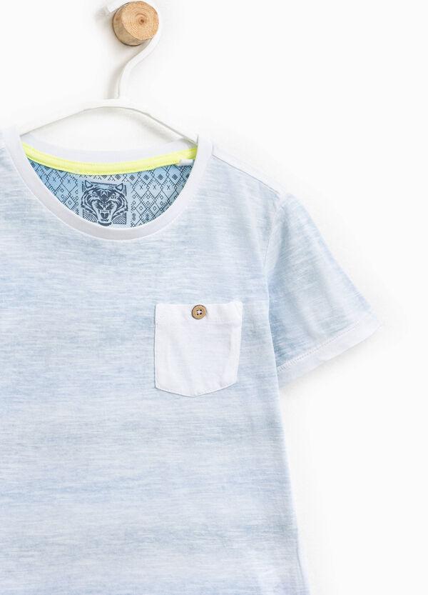 Mélange T-shirt with pocket   OVS