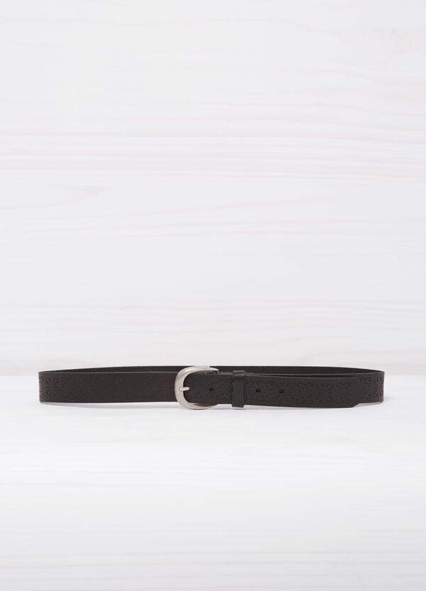 Cintura vera pelle con incisioni | OVS