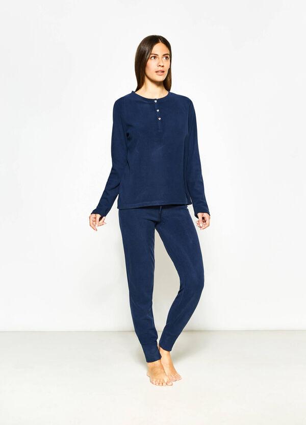 Maglia pigiama in pile tinta unita | OVS