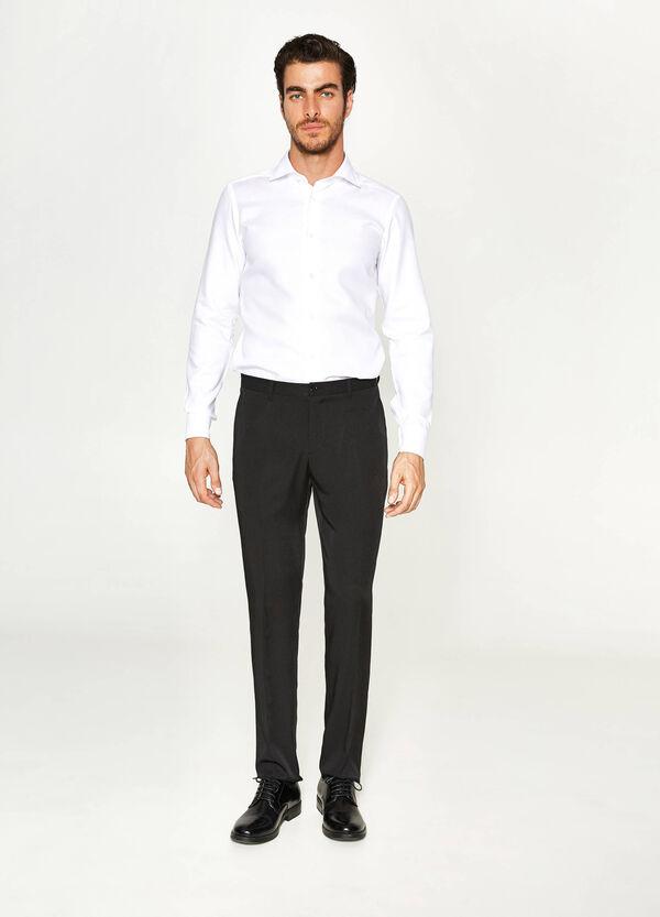 Pantaloni eleganti slim fit con piega | OVS
