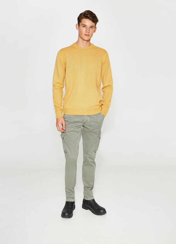 Slim-fit chino cargo trousers | OVS