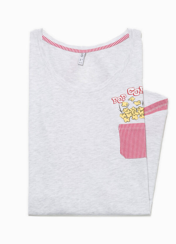Nightshirt with striped pocket | OVS