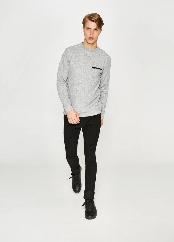 Cotton sweatshirt with pocket and zip | OVS