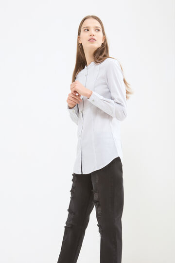 Solid colour stretch blouse