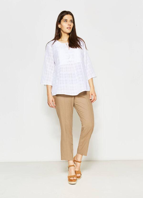 Pantaloni in lino e cotone Curvy | OVS