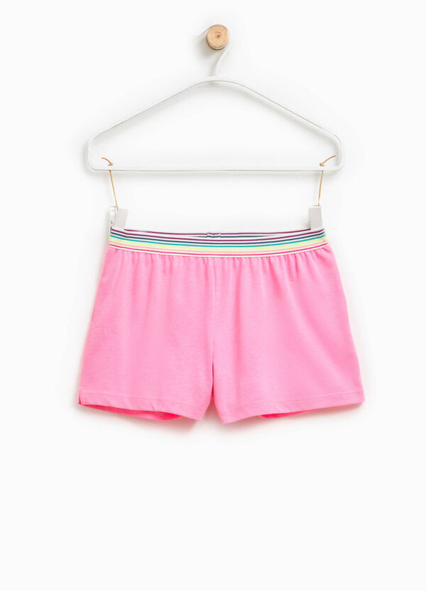 Shorts with elasticated and striped waist | OVS