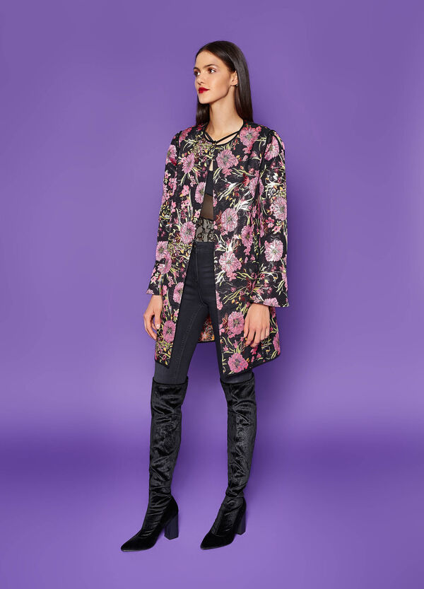 Short coat with floral pattern | OVS