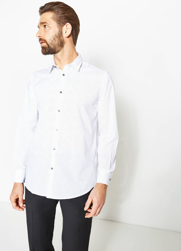 Camicia formale regular fit a pois | OVS