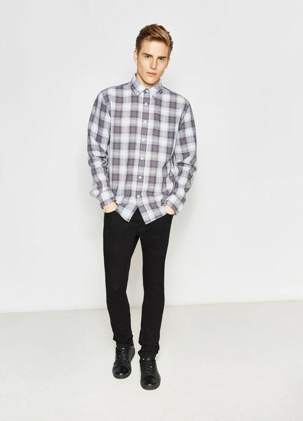 Camicia casual tartan con taschino | OVS