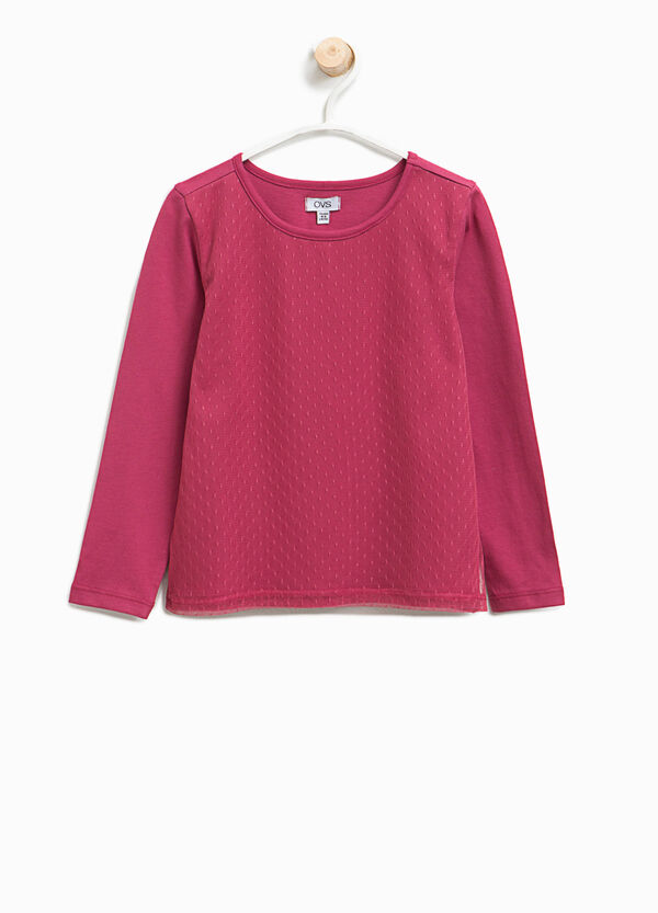 T-shirt with dotted weave | OVS