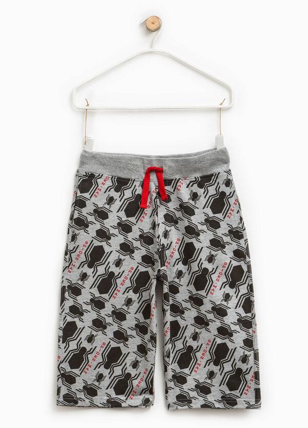 Spiderman pattern cotton Bermuda shorts | OVS