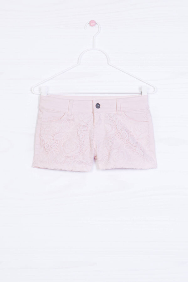 Cotton blend stretch shorts with insert   OVS