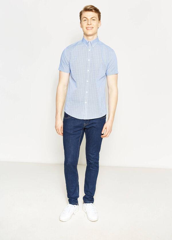 Camicia casual regular fit micro quadri | OVS