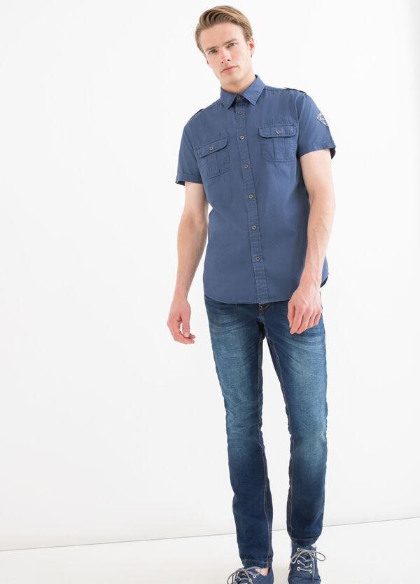 Camicia puro cotone tinta unita   OVS