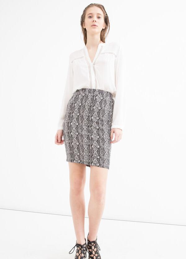Patterned stretch pencil skirt | OVS