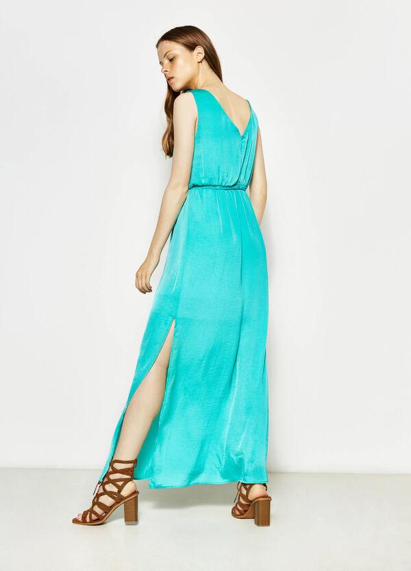 Sleeveless long dress with splits | OVS