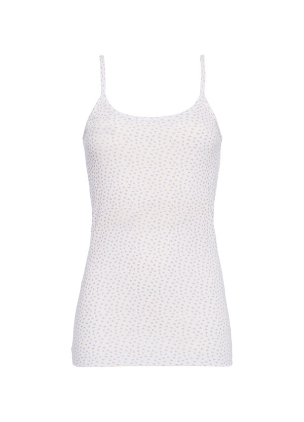 Top in 100% cotton with contrasting pattern | OVS