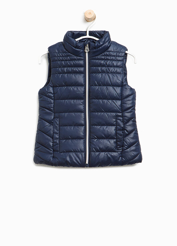 Padded waistcoat with high collar and zip | OVS