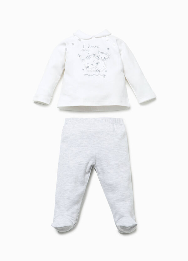 T-shirt and baby leggings set with patch | OVS