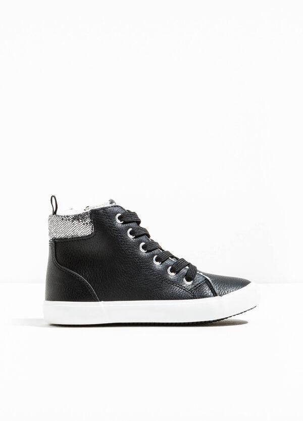 Sneakers alte retro con glitter | OVS