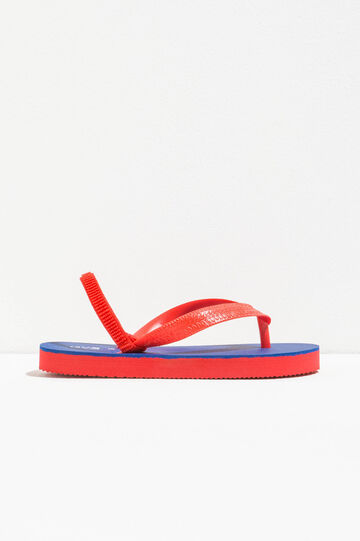 Flip flops with elasticated strap