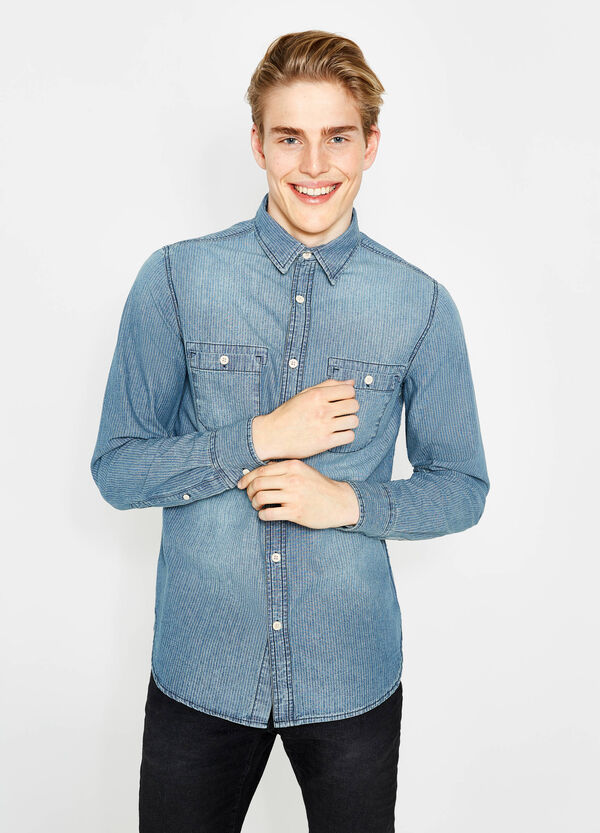 Camicia casual puro cotone a righe G&H | OVS