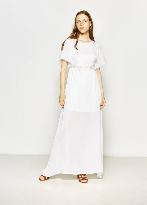 Long dress with back opening | OVS