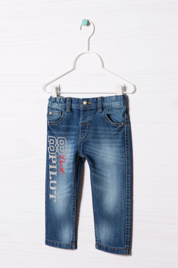 Worn-effect, turned-up jeans   OVS