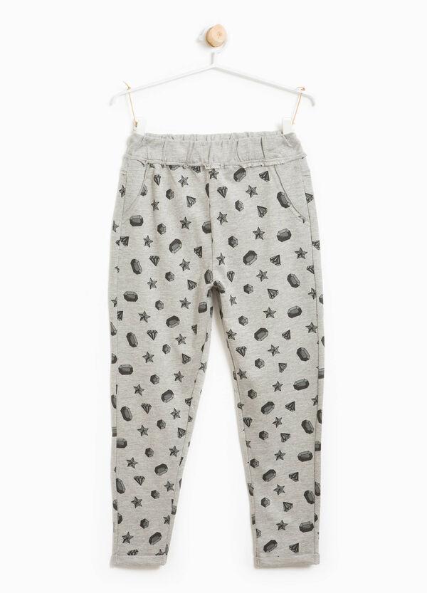 Pantaloni tuta in cotone stampati | OVS