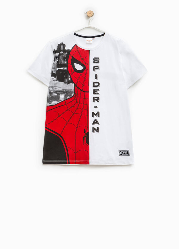Cotton T-shirt with maxi Spiderman print | OVS