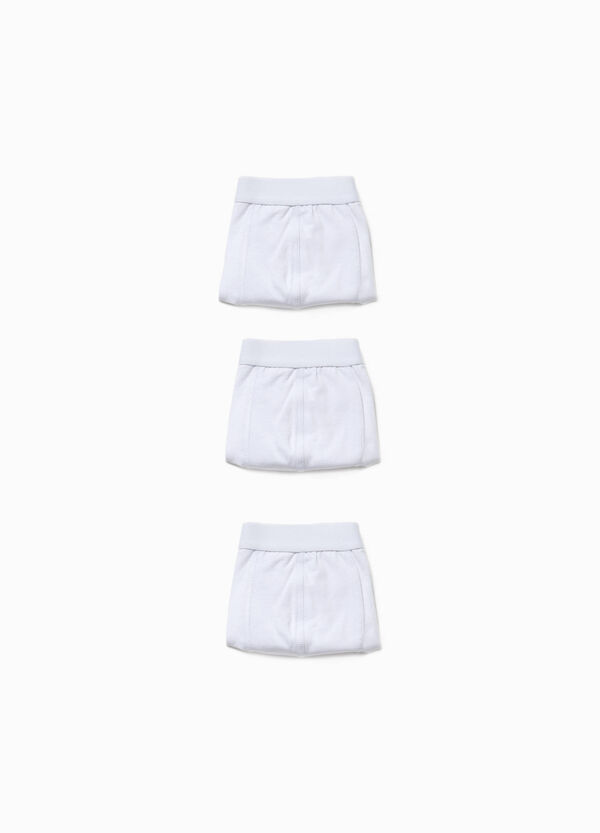 Set tre boxer in cotone stretch tinta unita | OVS