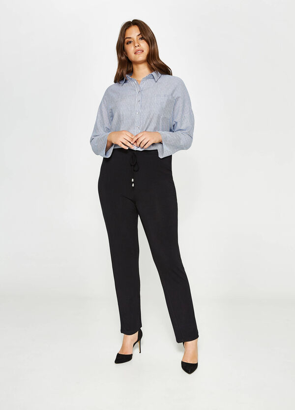 Curvy stretch viscose trousers | OVS