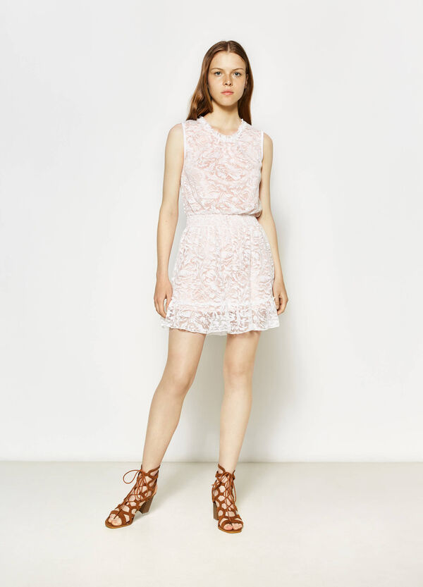 Lace sleeveless dress in cotton   OVS