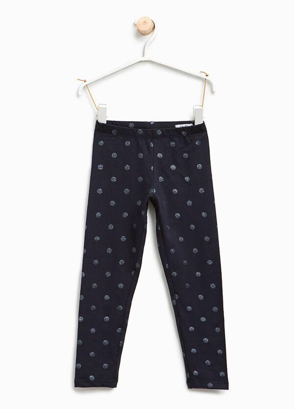 Leggings with glitter polka dot print | OVS